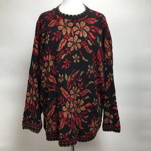Vintage Nutcracker Sparkle Christmas Sweater
